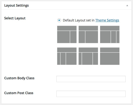 Page Layout Settings