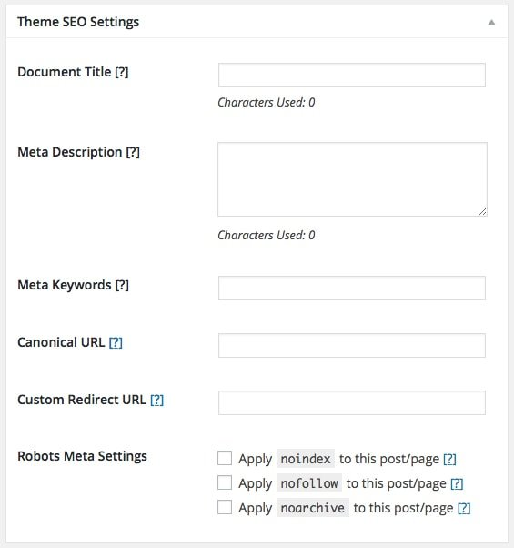 Page SEO Settings