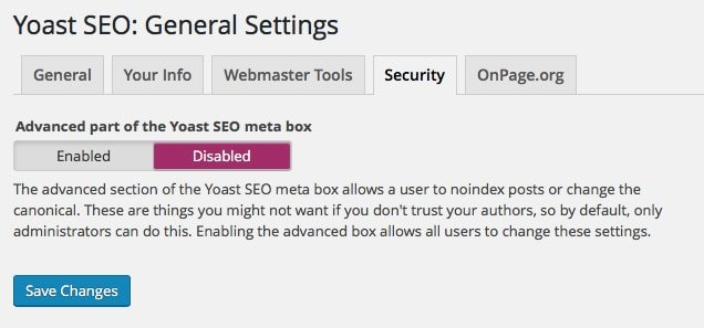 Yoast SEO Security