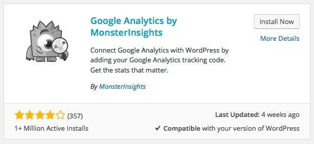 Google Analytics Monster Insights