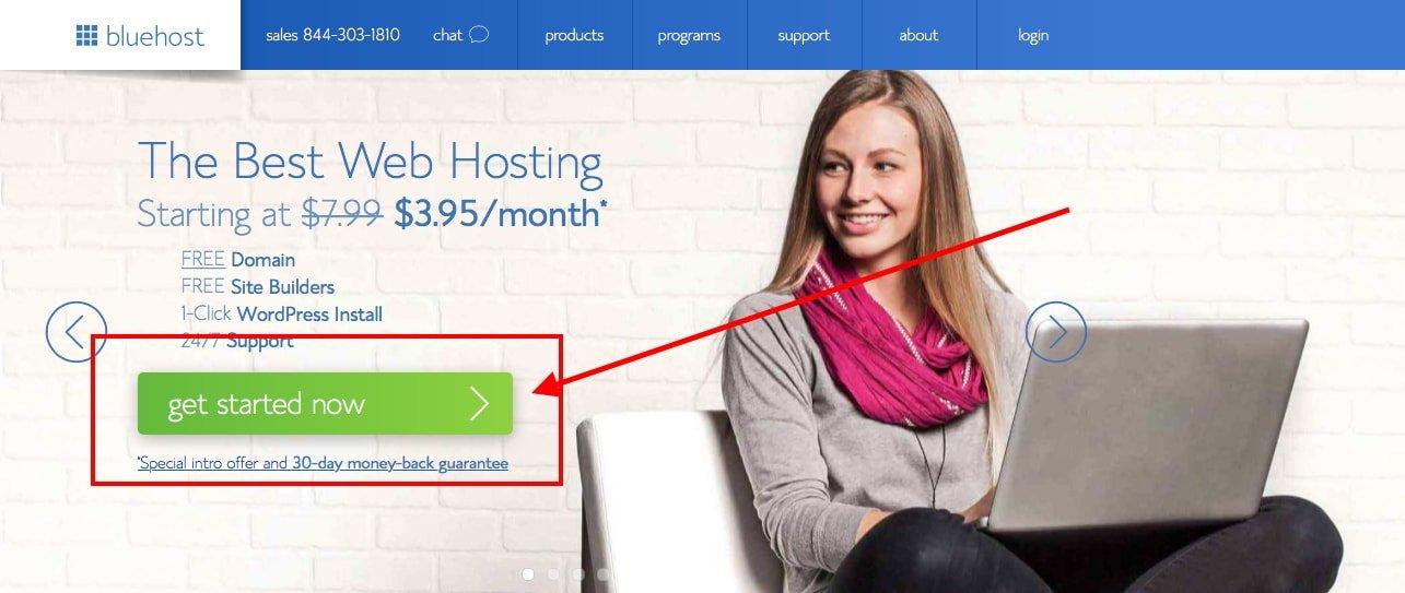 Bluehost Screenshot