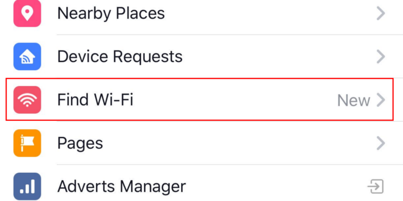 Facebook Wi-Fi Finder