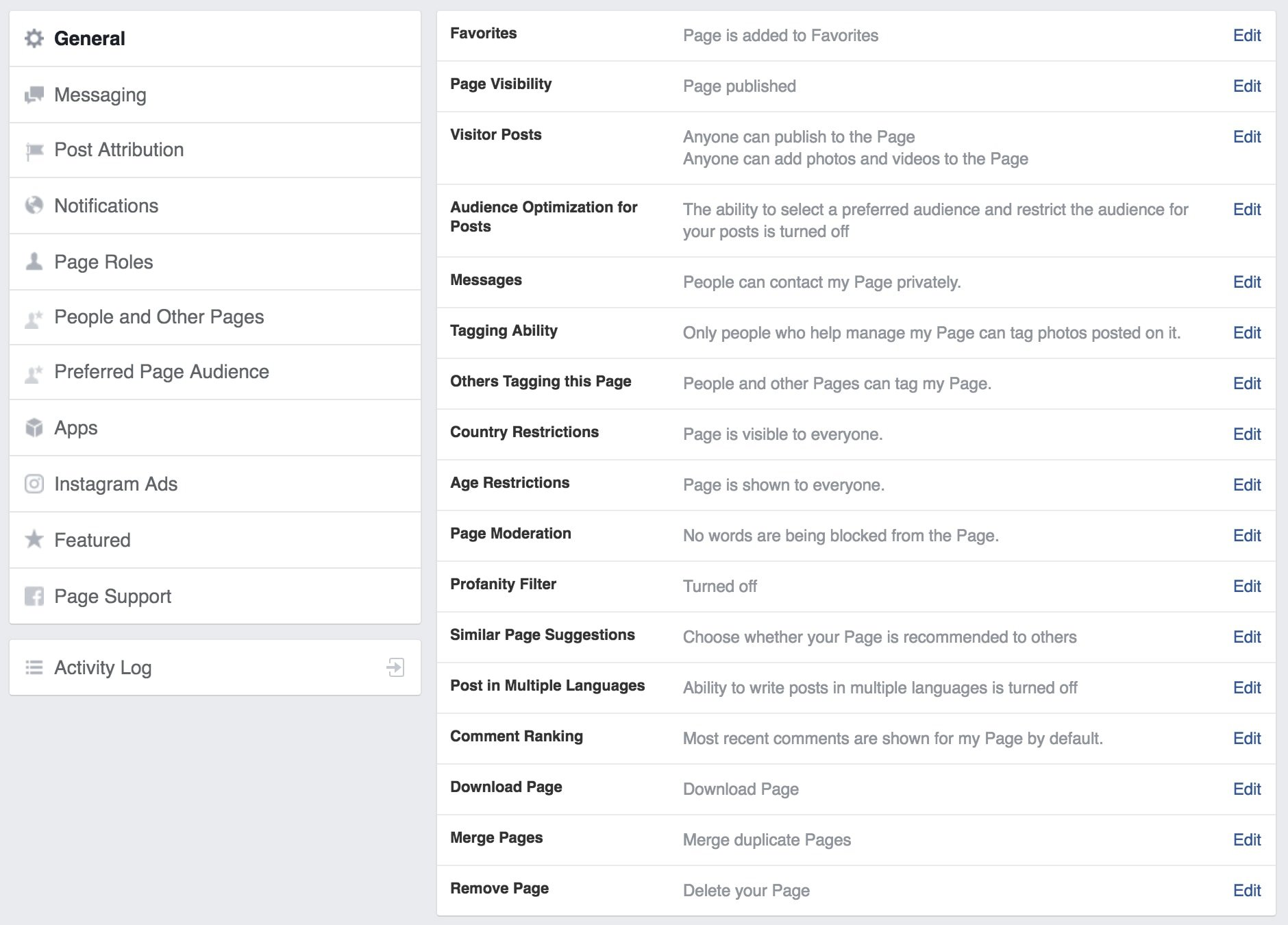 A comprehensive guide to using facebook for your business facebook general settings ccuart Image collections