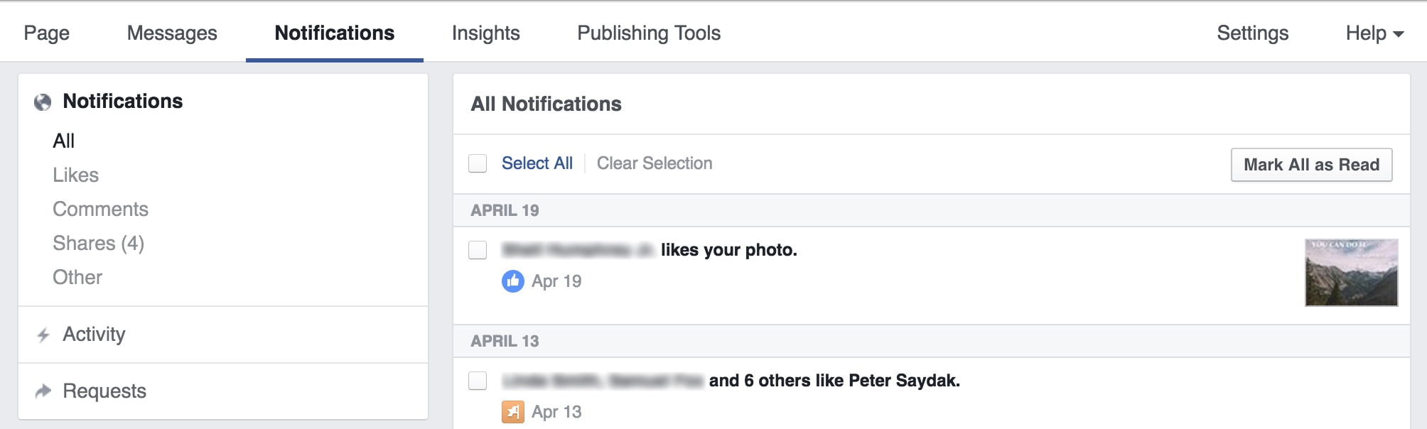Page Notifications