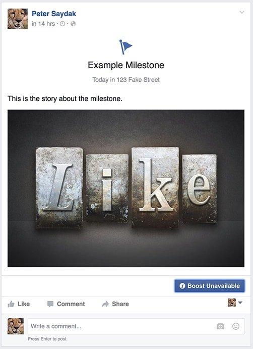 Milestone on Timeline