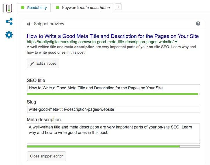 Writing a good website description