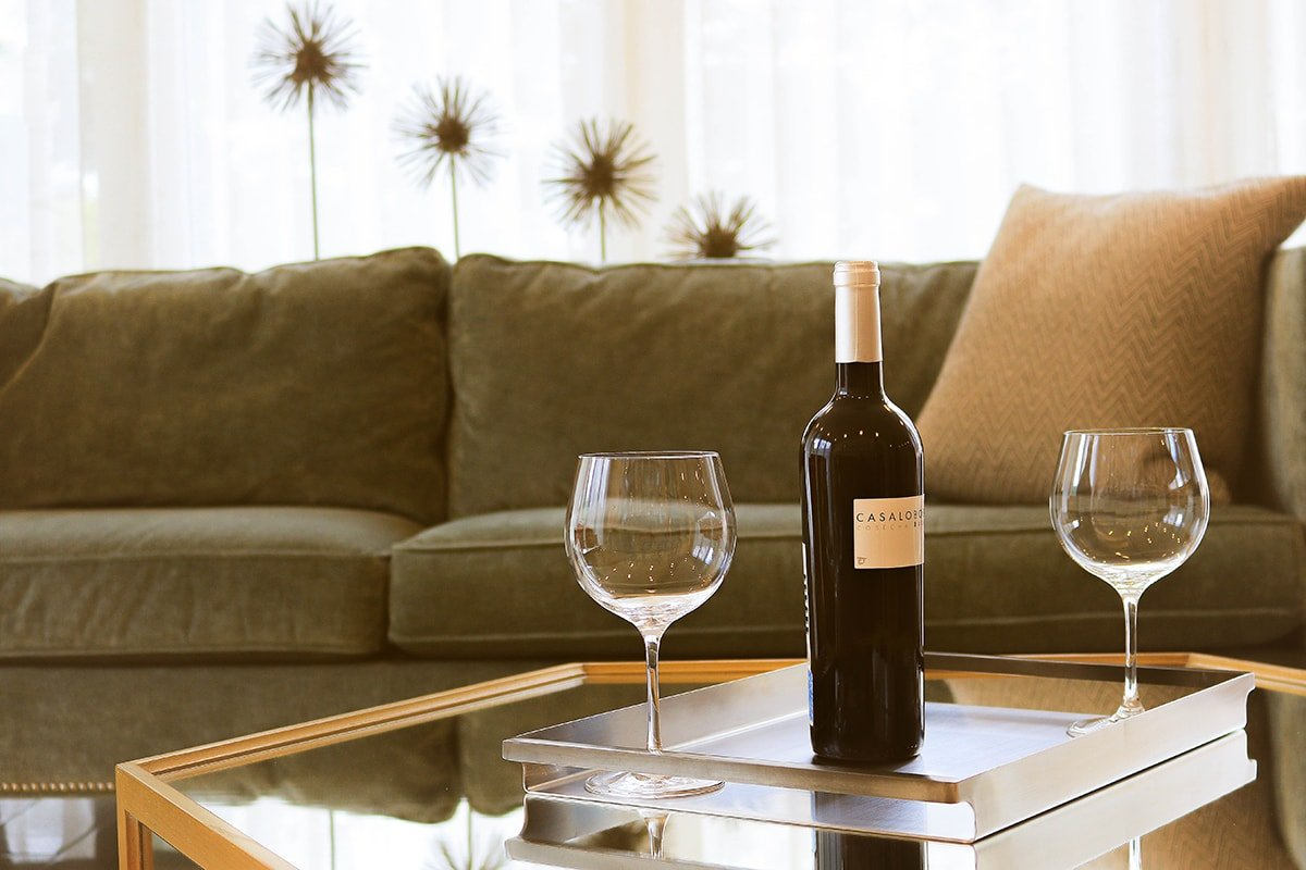 Wine in Living Room