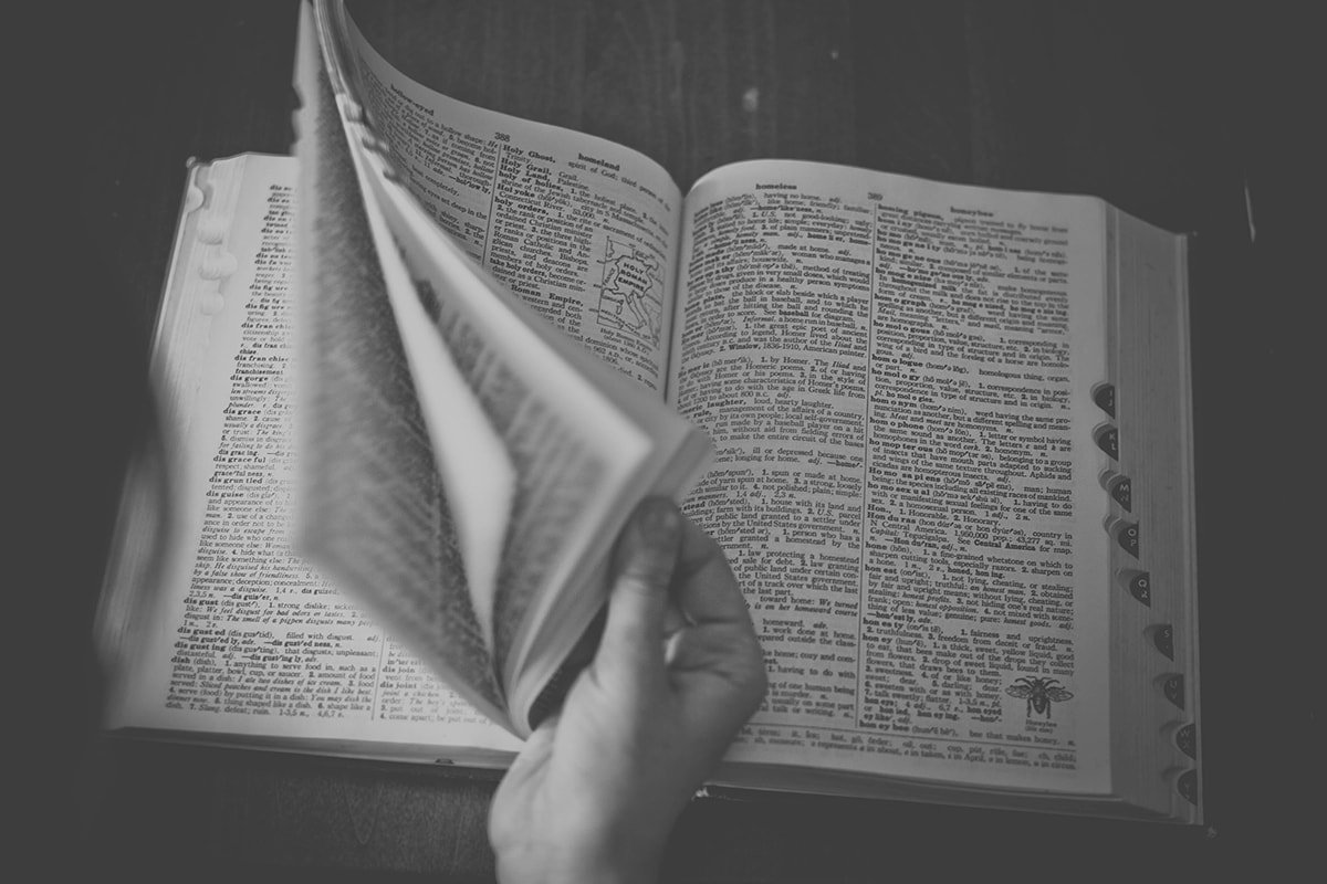 Defining terms using a dictionary