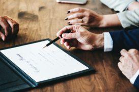 Signing divorce certificate