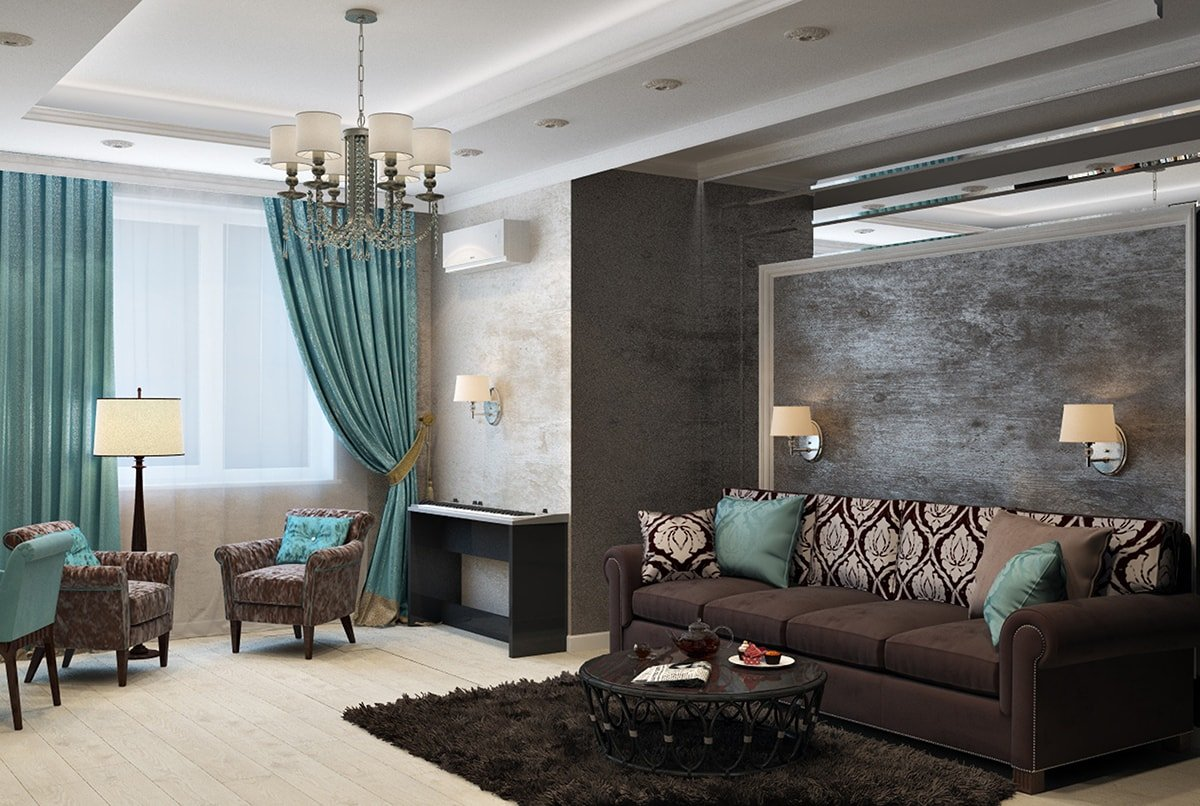 Elegantly designed living room