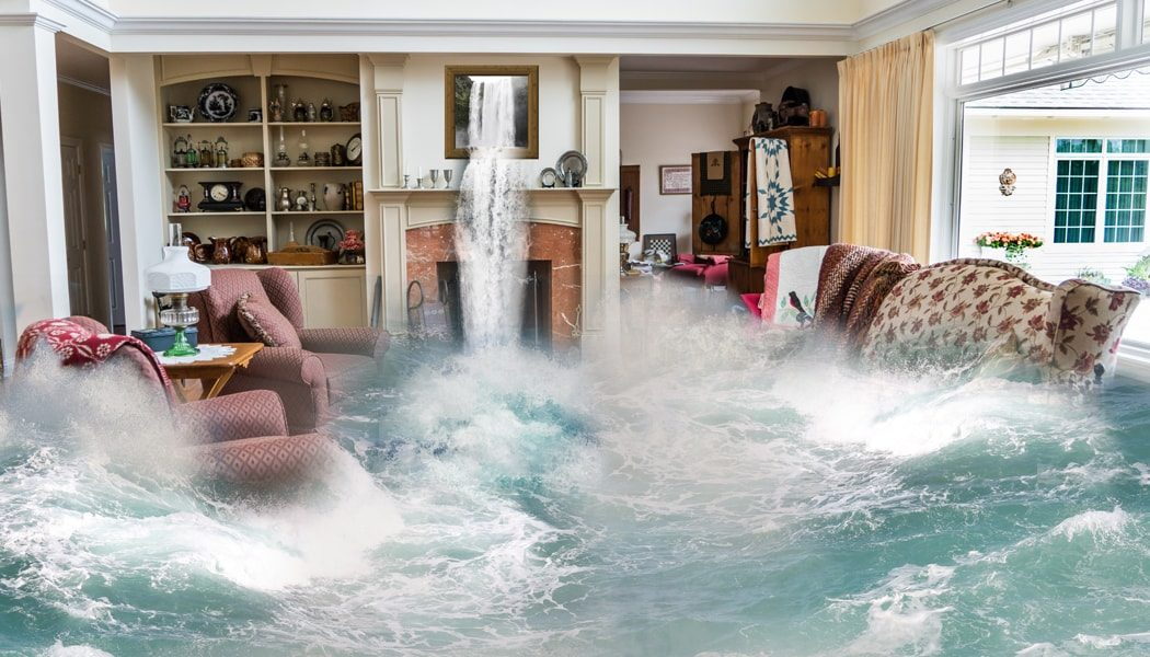 Living Room that's Flooding