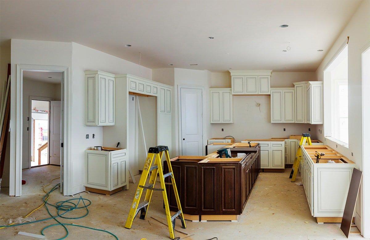 Kitchen in mid-renovation