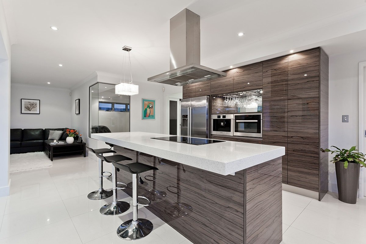 Modern kitchin with nice lighting