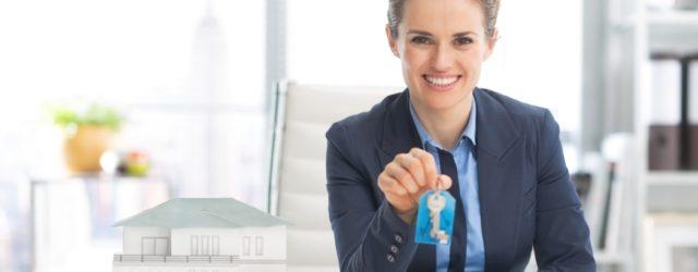 Realtor holding keys