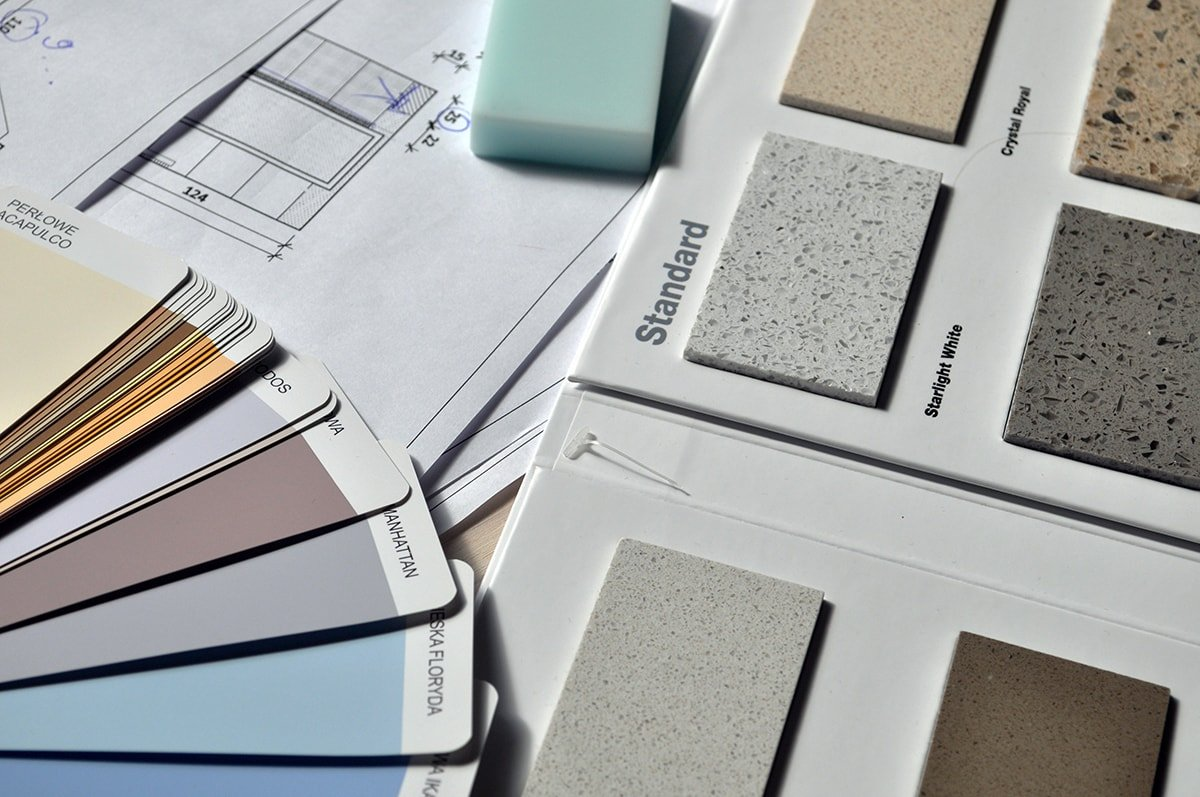 Paint and tile selections