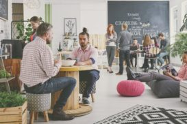 Teamwork at a marketing company