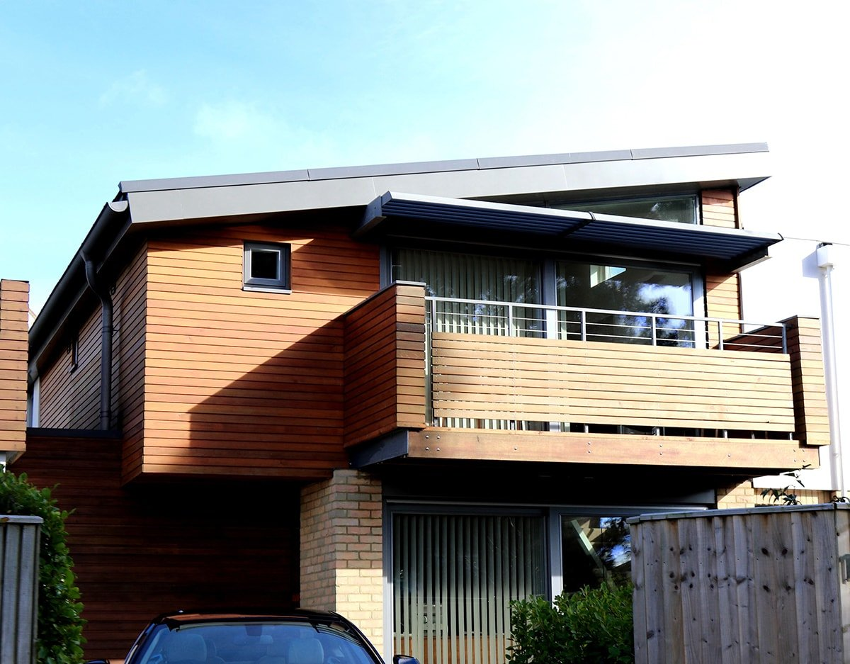 House with engineered wood