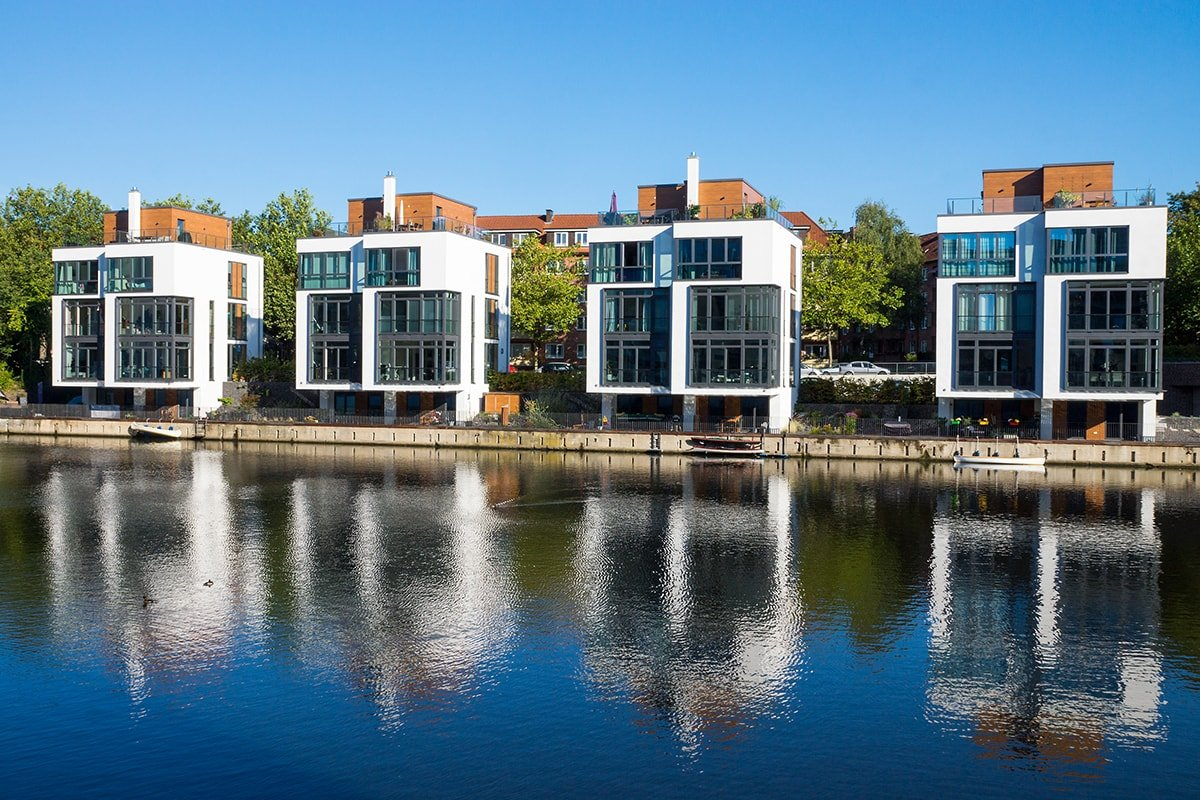 4 Buildings by water with similar identity