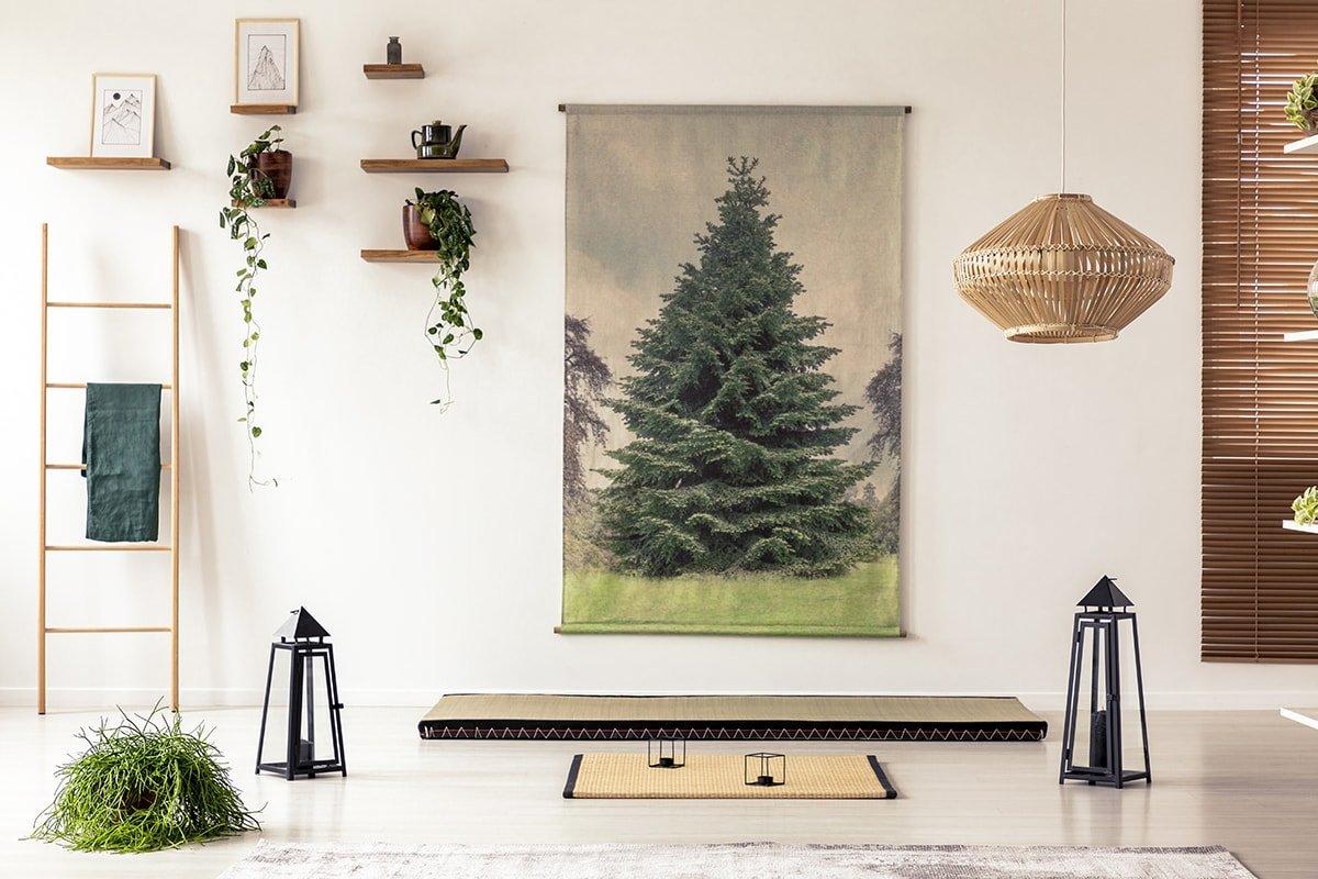 Asian inspired minimal room