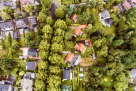 Aerial view of neighbourhood
