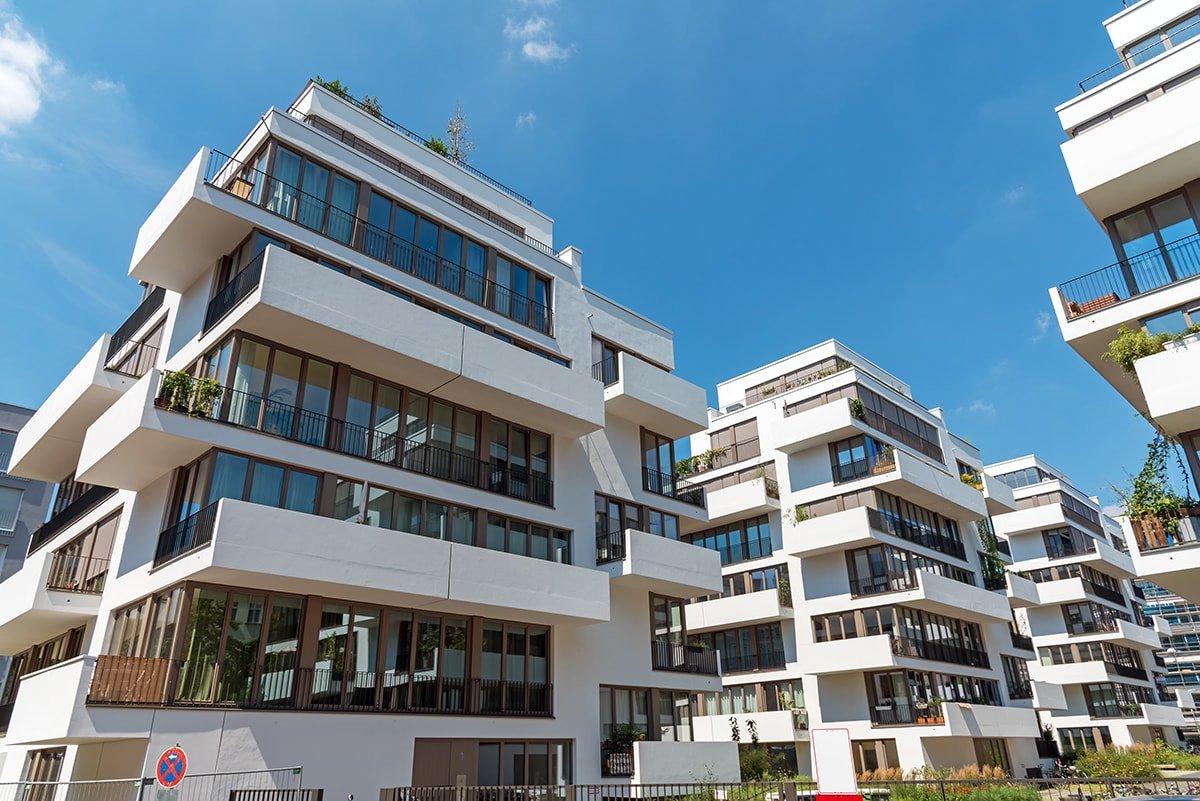 Modern condo buildings