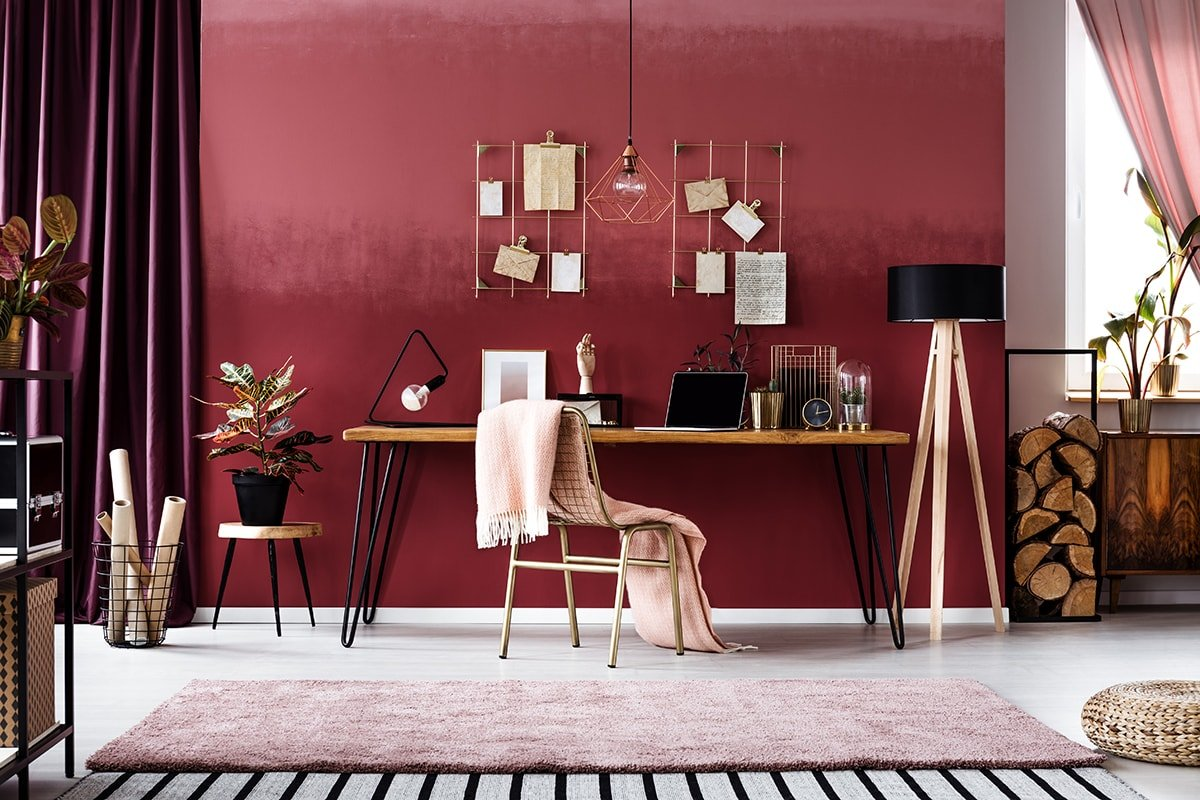 Cherry themed home office